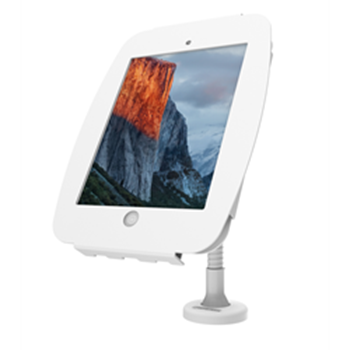 """Picture of iPad 9.7"""" Space Enclosure with Flex Arm - White"""