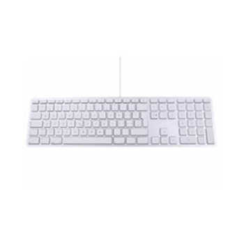 Picture of LMP USB 101 Key UK ENG Keyboard with Num Keypad, 2x USB Ports, Alu - Silver