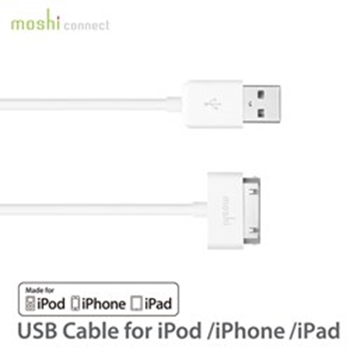 Picture of Moshi USB Cable iPod/iPhone/iPad - White