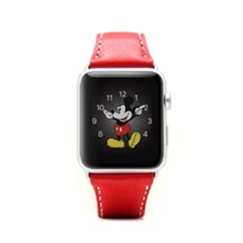 Picture of SLG Design D6 Italian Minerva Box Leather Strap for Apple Watch 42mm- Red